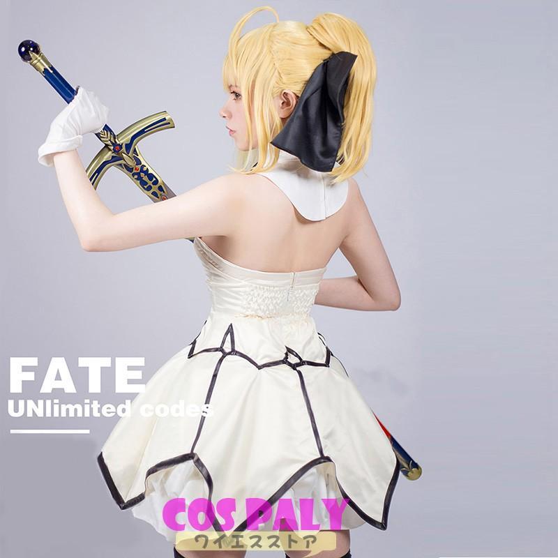 Fate/GrandOrder セイバー 風 アルトリア・ペンドラゴン 風 ワンピース コスプレ衣装 コスチューム 19uwf02
