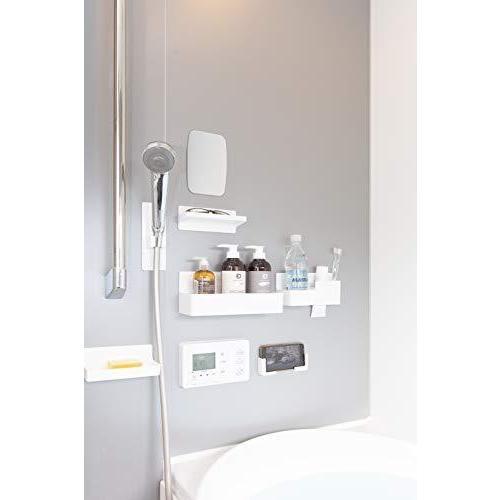 東和産業 浴室用ラック ホワイト 約28.3×9.4×11.2cm 磁着SQ マグネット バスポケット ワイド 39208|yschoice|02