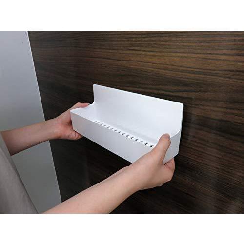 東和産業 浴室用ラック ホワイト 約28.3×9.4×11.2cm 磁着SQ マグネット バスポケット ワイド 39208|yschoice|03