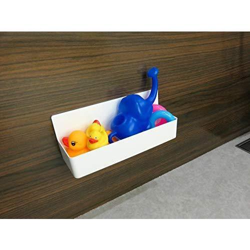 東和産業 浴室用ラック ホワイト 約28.3×9.4×11.2cm 磁着SQ マグネット バスポケット ワイド 39208|yschoice|04
