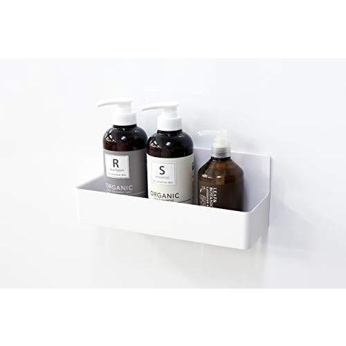 東和産業 浴室用ラック ホワイト 約28.3×9.4×11.2cm 磁着SQ マグネット バスポケット ワイド 39208|yschoice|08