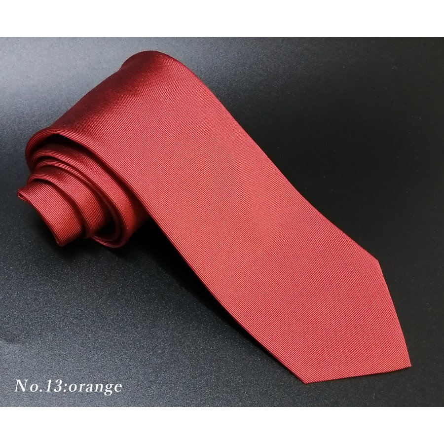 ネクタイ 日本製 シルク100% おしゃれ 無地 繻子織り メンズ ネイビー レッド ブラウン結婚式 冠婚葬祭 レギュラー  成人式 送料無料|yshirts-kobo|15