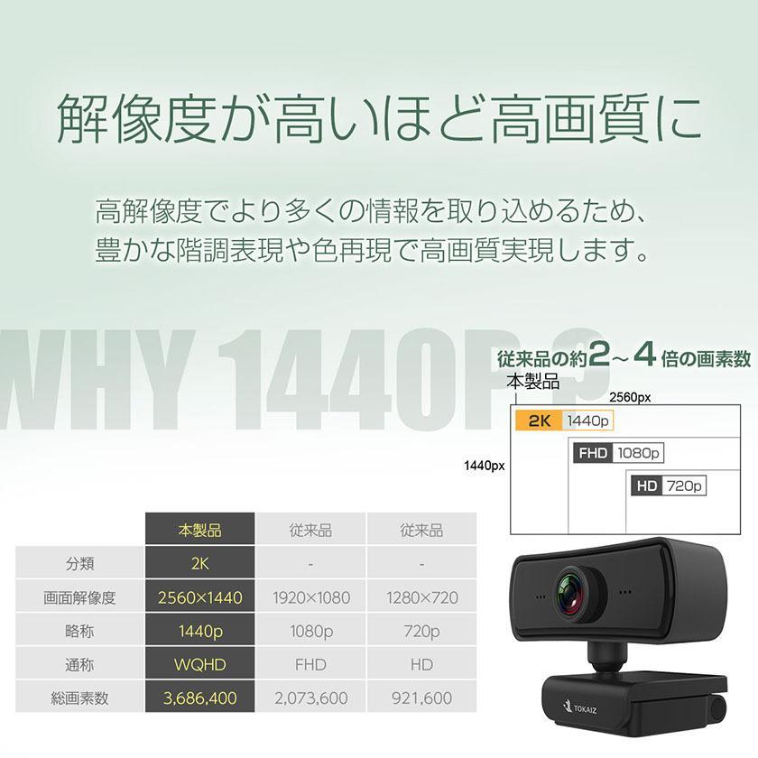 ウェブカメラ Webカメラ マイク内蔵 126°超広角 マイク カバー 三脚スタンド付き 1080P以上1440P対応 400万画素 30FPS 高画質 顔認識補正 zoom TOKAI ysmya 05