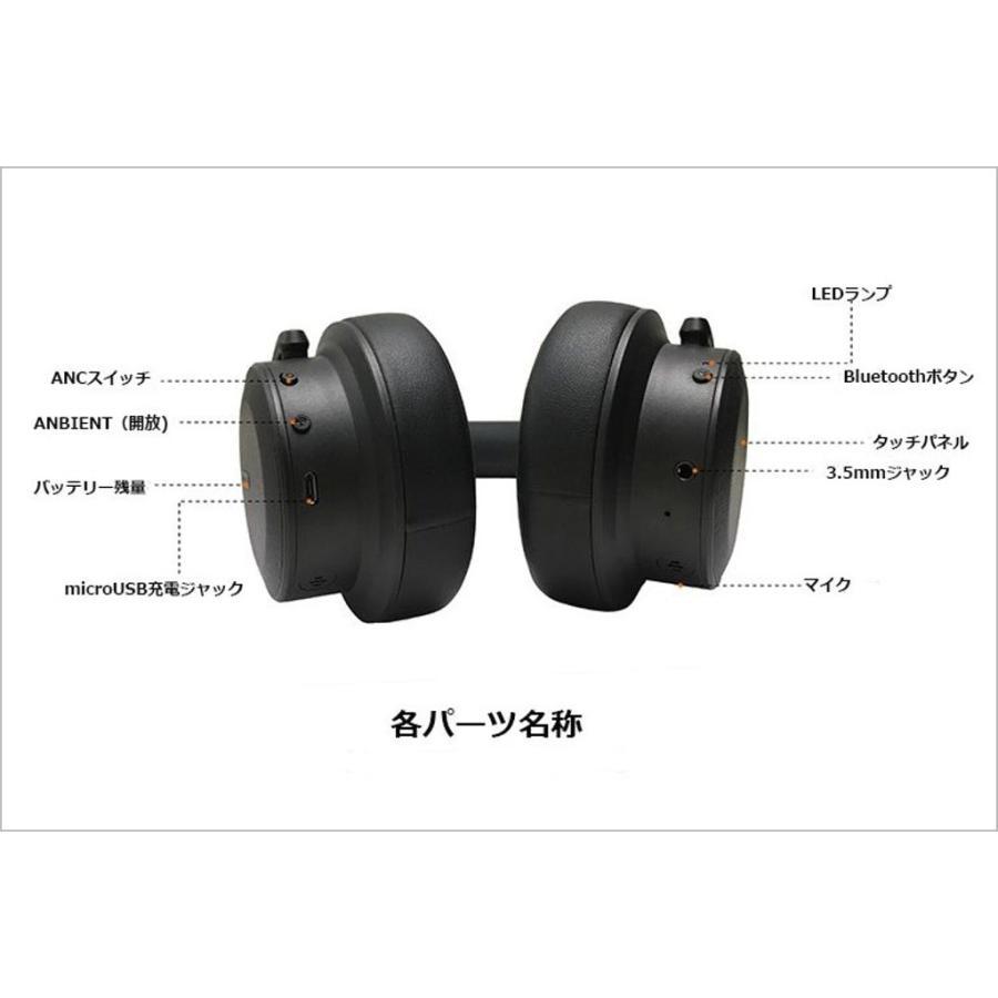 RWC ANC対応 Bluetooth ヘッドホン アクティブ ノイズキャンセリング ハイレゾ級音質 BNC100 ysy 05