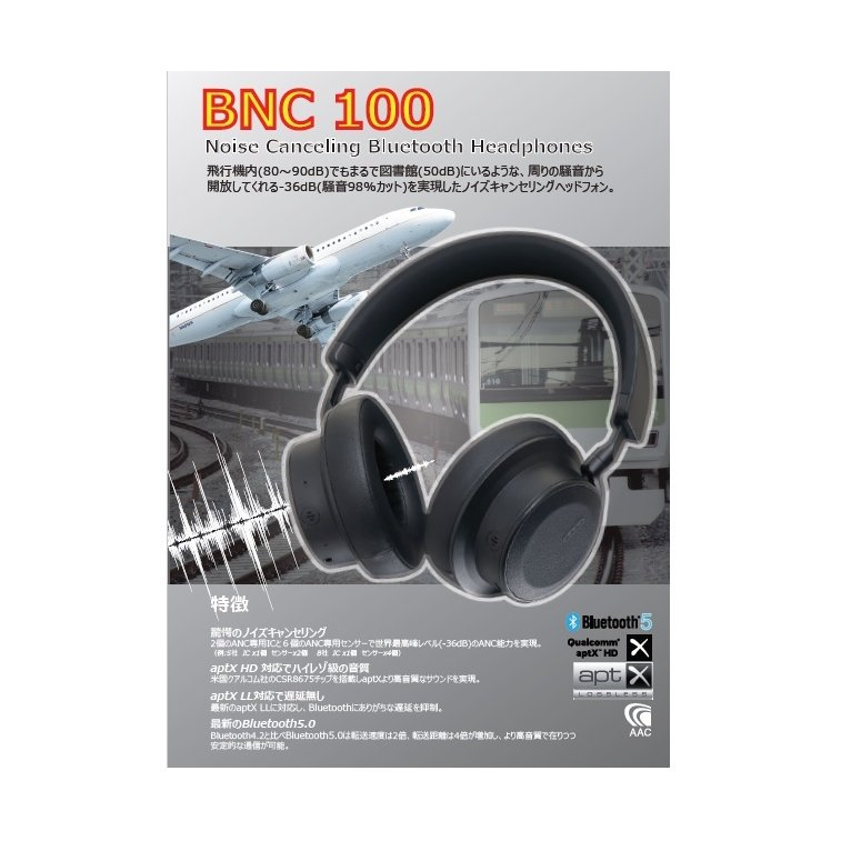 RWC ANC対応 Bluetooth ヘッドホン アクティブ ノイズキャンセリング ハイレゾ級音質 BNC100 ysy 07