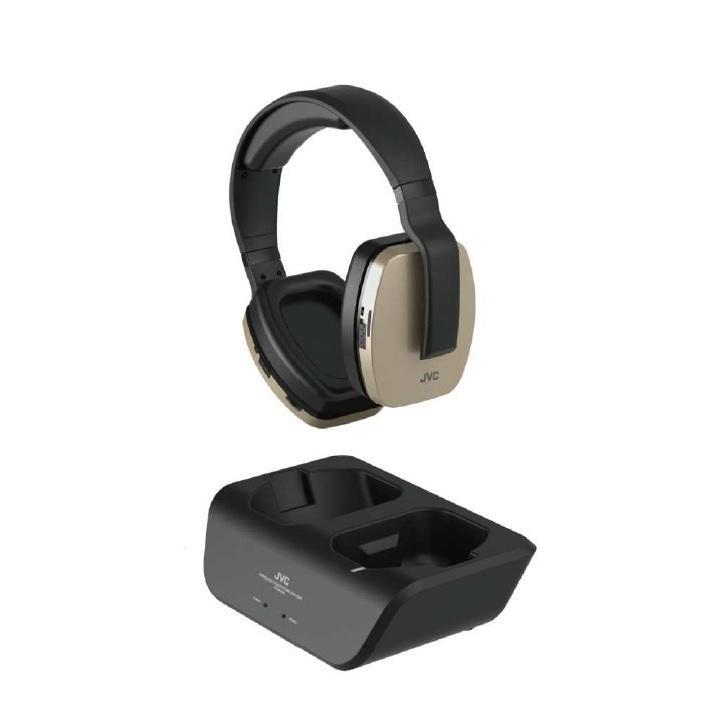 JVC ワイヤレス ヘッドホンシステム  テレビ用 受信距離約30m オンスタンド充電 ソフトイヤーパッド HA-WD200N シャンパンゴールド ysy