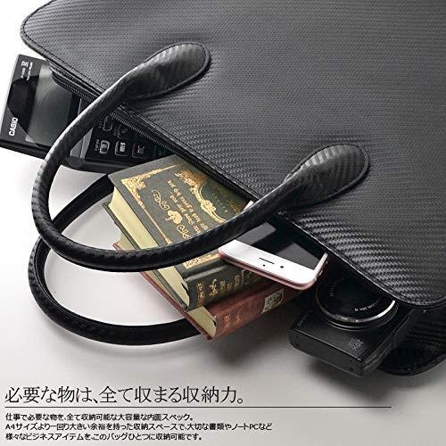 YSAK カーボンレザー ビジネスバック カバン メンズ 本革 大容量 高級 A4サイズ PC収納 イタリアンレザー ysy 05