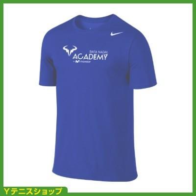 最安値挑戦中 ネコポス不可 ナイキ(Nike) ラファエル・ナダル アカデミー ブルロゴ入り Tシャツ ブルー 国内未発売