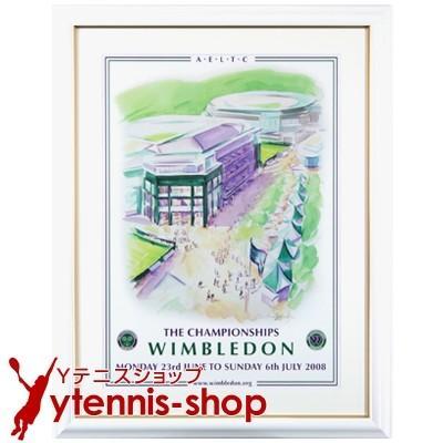 最安値挑戦中 ネコポス不可 ウィンブルドン 2008 額付オフィシャルポスター 全英オープンテニス