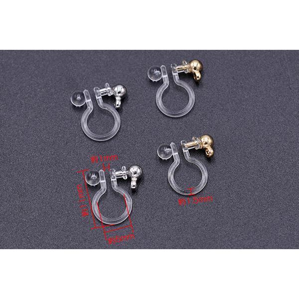 最安値挑戦中!ノンホールピアス 樹脂カン付【20ヶ】|yu-beads-parts|04