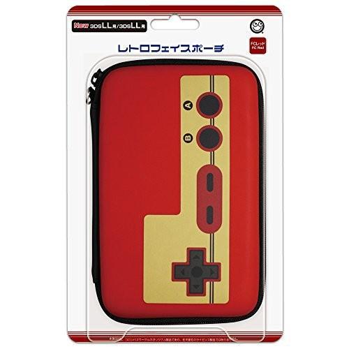 (New3DSLL/3DSLL用) レトロフェイスポーチ (FCレッド)|yu-yu-stoa