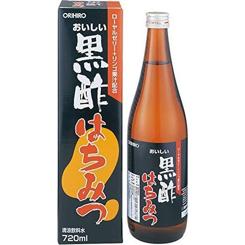 オリヒロ おいしい黒酢 はちみつ 720ml yua-ray