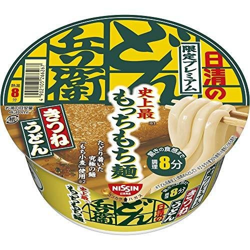 日清 どん兵衛 限定プレミアム きつねうどん 史上最もっちもち麺 82g ×12個|yua-ray