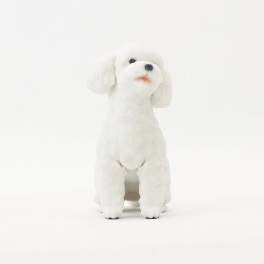 トイ・プードル テディベアカット ホワイトのミニチュアフィギュア yuhobica 03