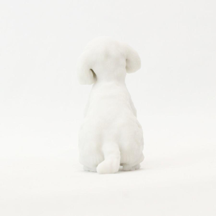トイ・プードル テディベアカット ホワイトのミニチュアフィギュア yuhobica 05
