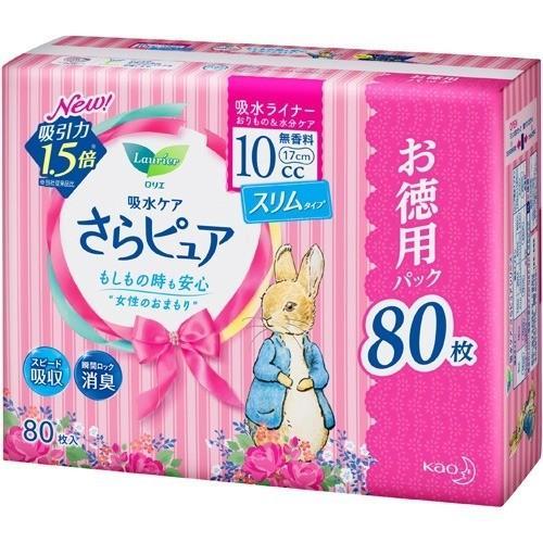 ロリエ さらピュア スリムタイプ 10cc 無香料 特大パック(80枚入)|yuidrug