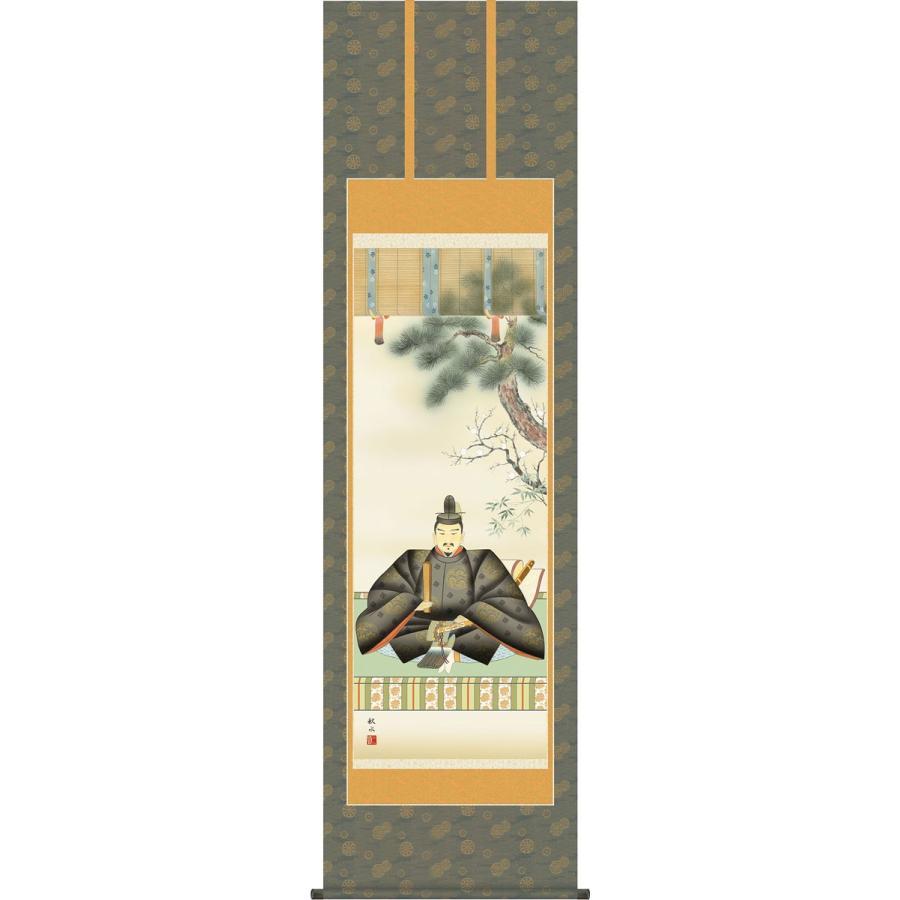 掛軸(掛け軸) 天神 浮田秋水作 尺五立 約横54.5×縦190cm (送料無料)g4407