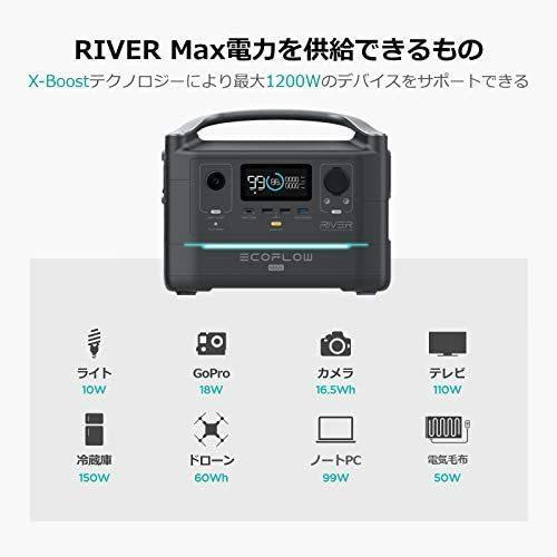 ECOFLOW(エコフロー) ポータブル電源 RIVER Max 576Wh 出力600W(ピーク1200W) yukinkoshop 03