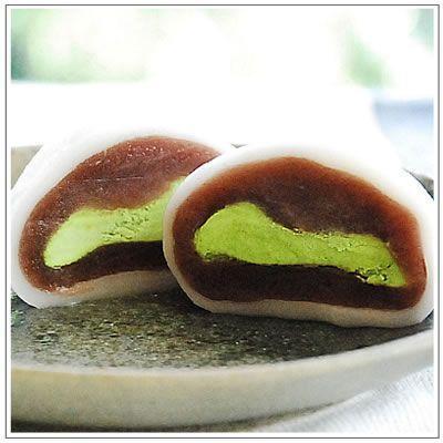 生クリーム大福:うさぎのしっぽ 抹茶・いちご・ショコラミックス(2個ずつ計6個入)|yukiusagi|02
