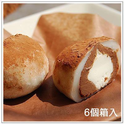生クリーム大福:うさぎのしっぽ 抹茶・いちご・ショコラミックス(2個ずつ計6個入)|yukiusagi|04