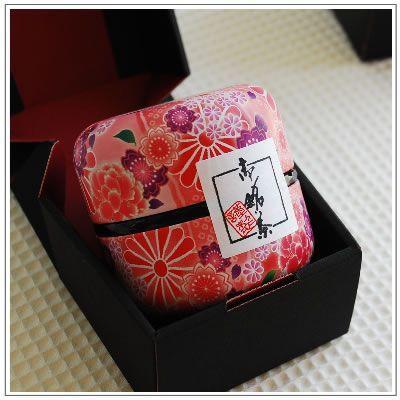 【深蒸し茶】お茶:静岡高級深蒸し茶「なつめ缶」80g 紅なつめ缶1本 箱入り|yukiusagi