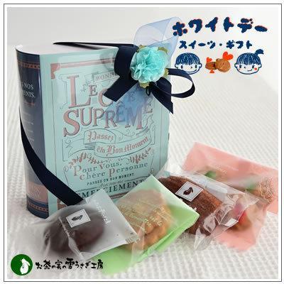 バレンタインのお返しに:ホワイトデーのクッキー・焼菓子詰合せ「アンティークブック S」 918円|yukiusagi