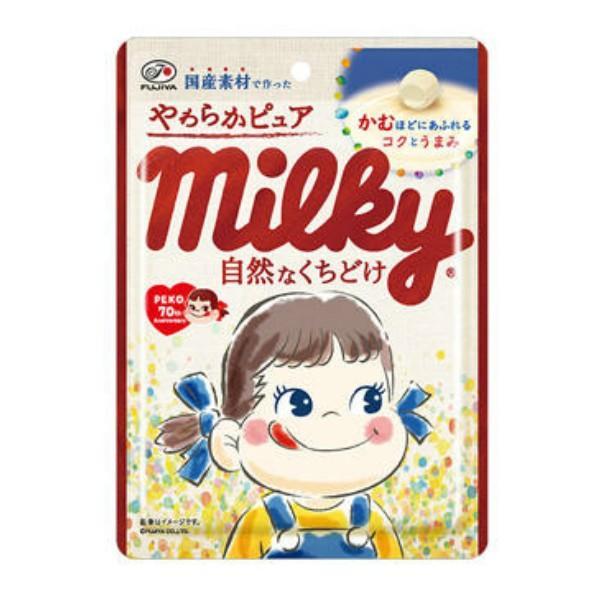 (メール便全国送料無料)不二家 80g やわらかピュアミルキー袋 3袋入 (ポイント消化)|yukkun-reitou|02