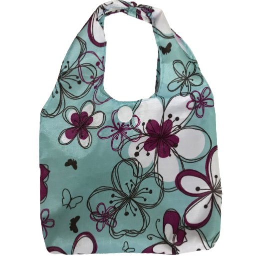 マチ付きMサイズのエコバッグ お買い物や普段使いにも便利 軽量で折りたたみ可能|yume-ribbon|06