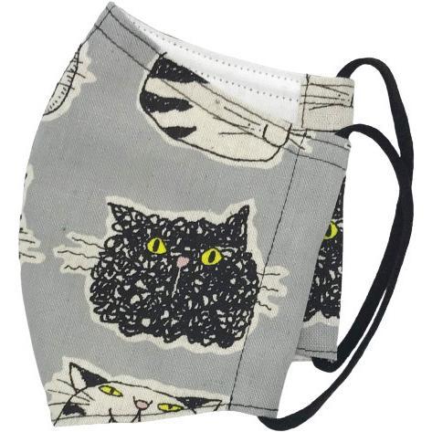 ネコ柄布マスク 裏側素材選択可。春夏用にはさらさらとしたメッシュ、秋冬用には肌触りも良いダブルガーゼ|yume-ribbon|11