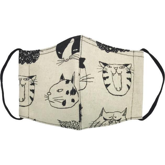 ネコ柄布マスク 裏側素材選択可。春夏用にはさらさらとしたメッシュ、秋冬用には肌触りも良いダブルガーゼ|yume-ribbon|13