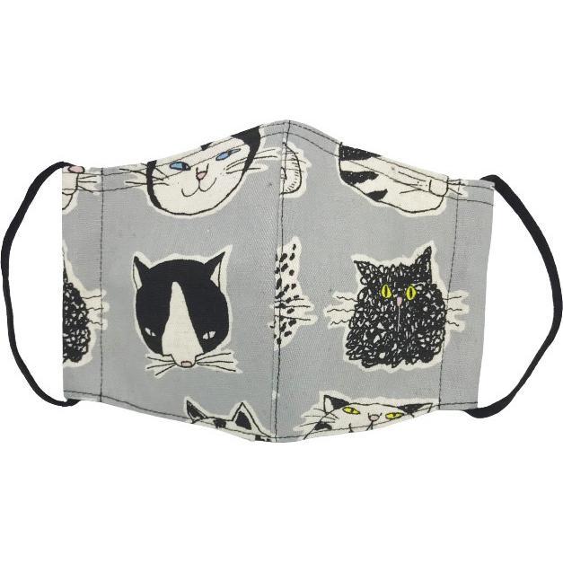 ネコ柄布マスク 裏側素材選択可。春夏用にはさらさらとしたメッシュ、秋冬用には肌触りも良いダブルガーゼ|yume-ribbon|14