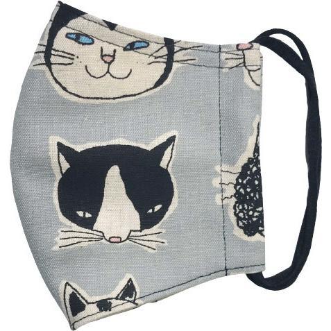 ネコ柄布マスク 裏側素材選択可。春夏用にはさらさらとしたメッシュ、秋冬用には肌触りも良いダブルガーゼ|yume-ribbon|15