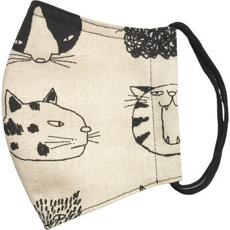 ネコ柄布マスク 裏側素材選択可。春夏用にはさらさらとしたメッシュ、秋冬用には肌触りも良いダブルガーゼ|yume-ribbon|16