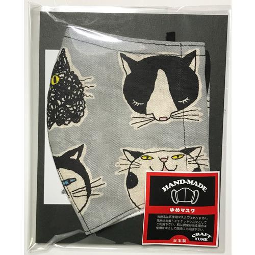 ネコ柄布マスク 裏側素材選択可。春夏用にはさらさらとしたメッシュ、秋冬用には肌触りも良いダブルガーゼ|yume-ribbon|19