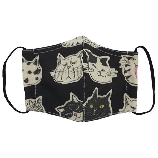 ネコ柄布マスク 裏側素材選択可。春夏用にはさらさらとしたメッシュ、秋冬用には肌触りも良いダブルガーゼ|yume-ribbon|04