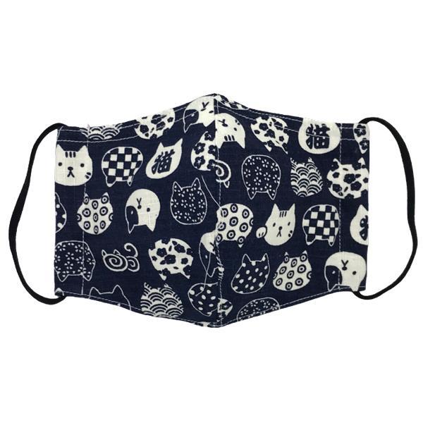 ネコ柄布マスク 裏側素材選択可。春夏用にはさらさらとしたメッシュ、秋冬用には肌触りも良いダブルガーゼ|yume-ribbon|05