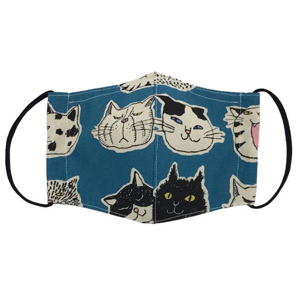 ネコ柄布マスク 裏側素材選択可。春夏用にはさらさらとしたメッシュ、秋冬用には肌触りも良いダブルガーゼ|yume-ribbon|06