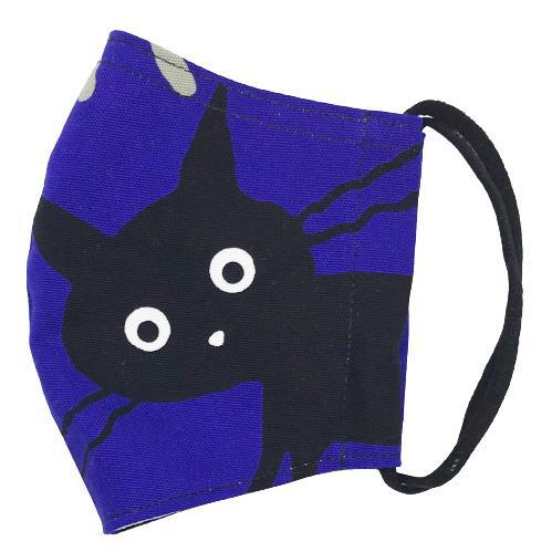 ネコ柄布マスク-2 裏側素材選択可。春夏用にはさらさらとしたメッシュ、秋冬用には肌触りも良いダブルガーゼ|yume-ribbon|02