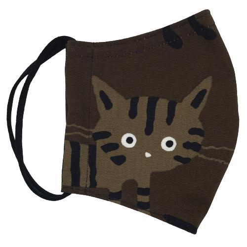 ネコ柄布マスク-2 裏側素材選択可。春夏用にはさらさらとしたメッシュ、秋冬用には肌触りも良いダブルガーゼ|yume-ribbon|03