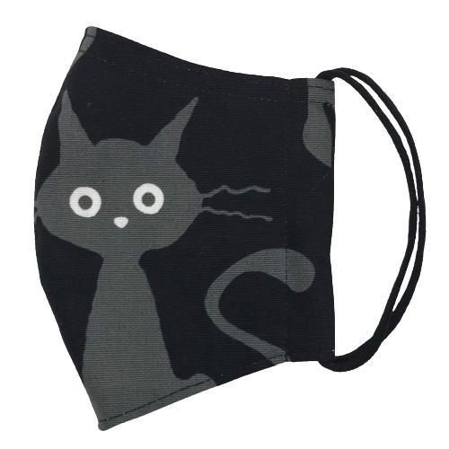 ネコ柄布マスク-2 裏側素材選択可。春夏用にはさらさらとしたメッシュ、秋冬用には肌触りも良いダブルガーゼ|yume-ribbon|04