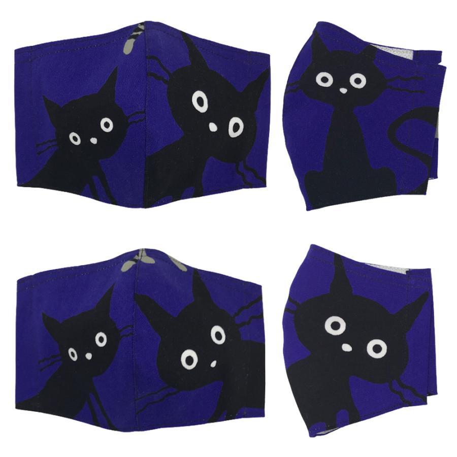 ネコ柄布マスク-2 裏側素材選択可。春夏用にはさらさらとしたメッシュ、秋冬用には肌触りも良いダブルガーゼ|yume-ribbon|06