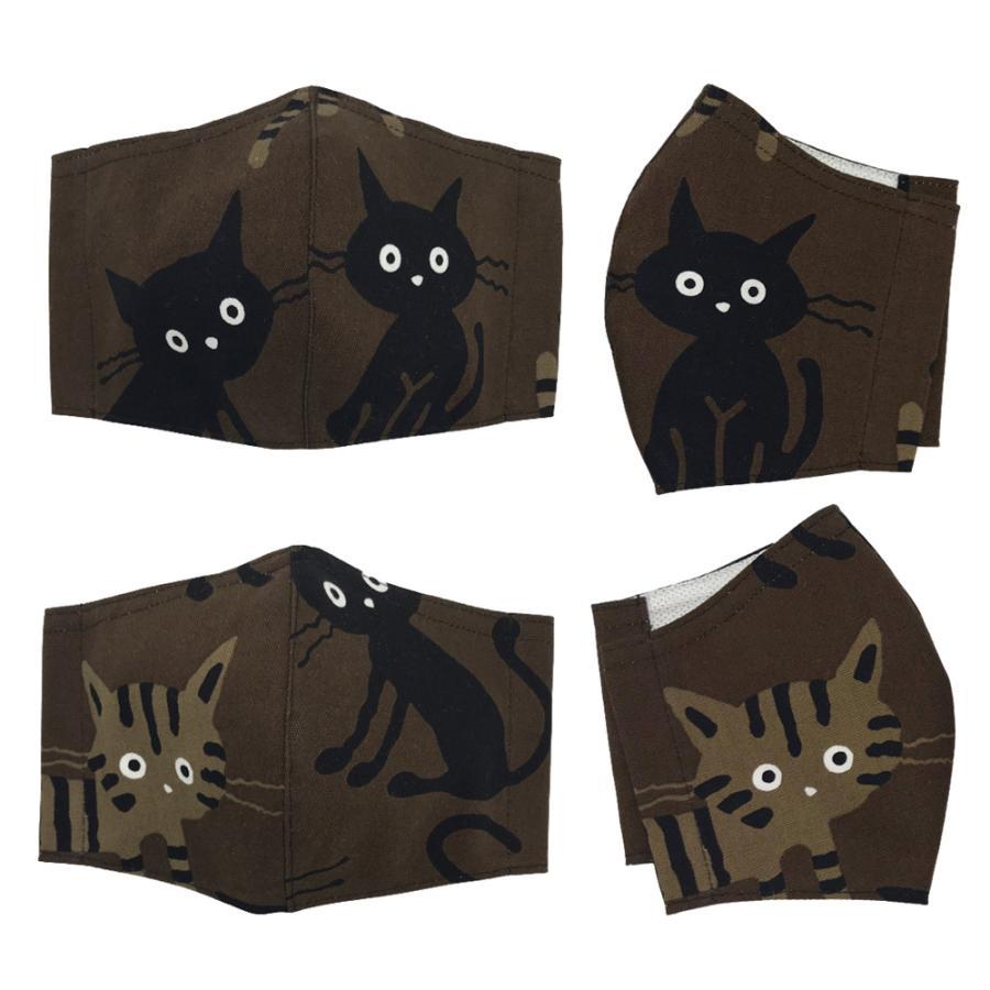 ネコ柄布マスク-2 裏側素材選択可。春夏用にはさらさらとしたメッシュ、秋冬用には肌触りも良いダブルガーゼ|yume-ribbon|08