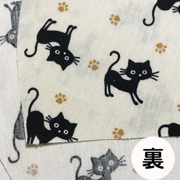 黒猫と足跡柄の布マスク。裏側素材選択可。春夏用にはさらさらとしたメッシュ、秋冬用には肌触りも良いダブルガーゼ|yume-ribbon|13