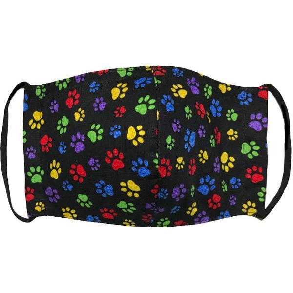肉球柄プリントの布マスク 猫 犬 日本製 コットン100%|yume-ribbon|02