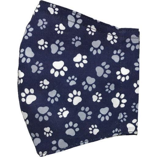 肉球柄プリントの布マスク 猫 犬 日本製 コットン100%|yume-ribbon|17