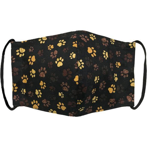 肉球柄プリントの布マスク 猫 犬 日本製 コットン100%|yume-ribbon|03