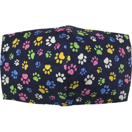 肉球柄プリントの布マスク 猫 犬 日本製 コットン100%|yume-ribbon|21
