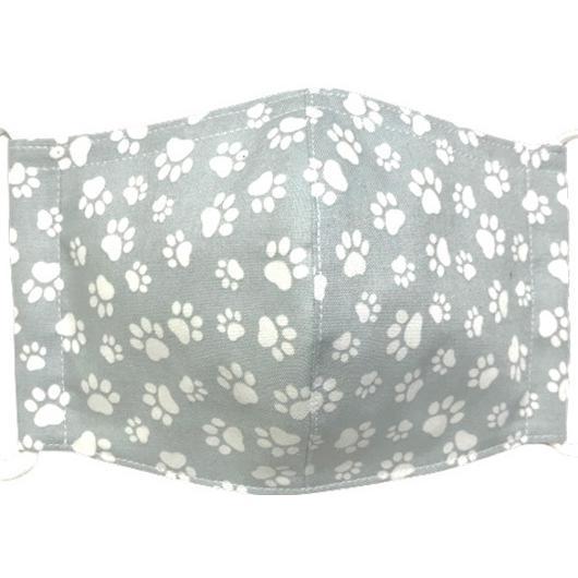 肉球柄プリントの布マスク 猫 犬 日本製 コットン100%|yume-ribbon|04