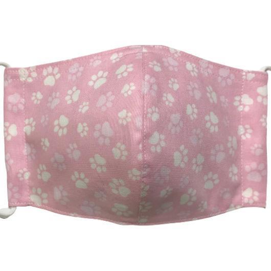 肉球柄プリントの布マスク 猫 犬 日本製 コットン100%|yume-ribbon|06