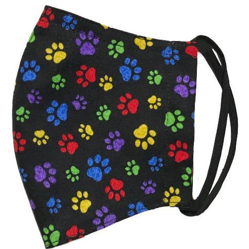 肉球柄プリントの布マスク 猫 犬 日本製 コットン100%|yume-ribbon|07